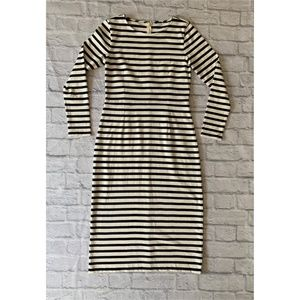 J.Crew Long Sleeve Striped Dress Size 6
